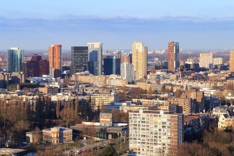 Rotterdam linia horyzontu zdjęcie royalty free