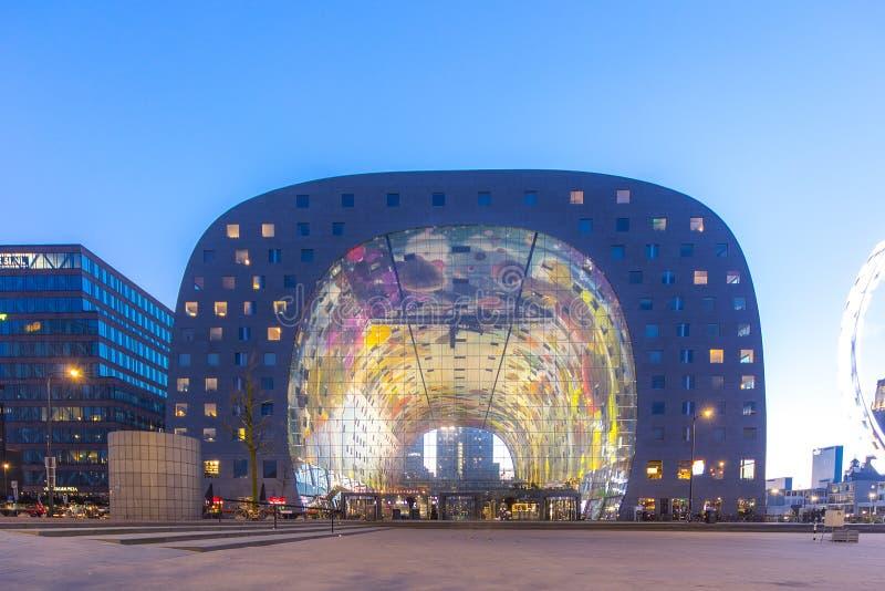 Rotterdam-Markt Hall stockfoto