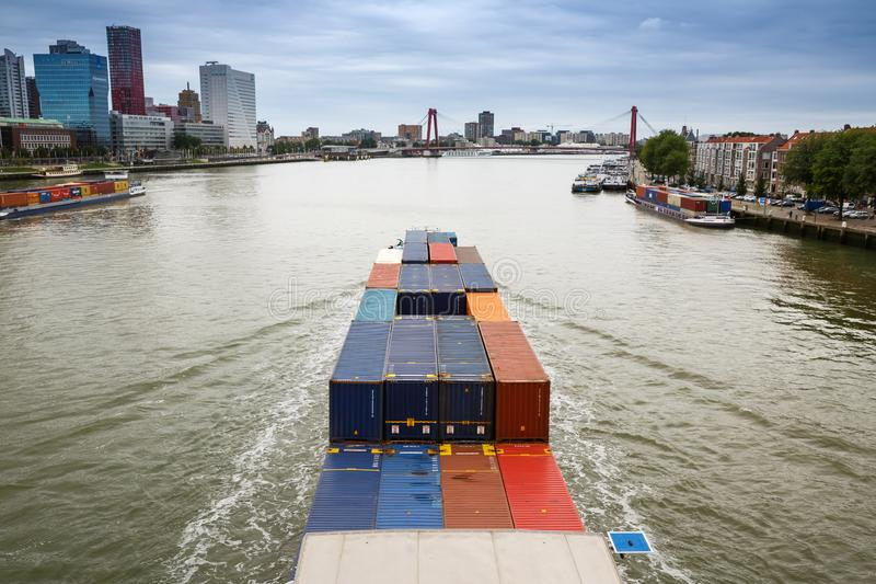 Rotterdam miasta widok obraz stock