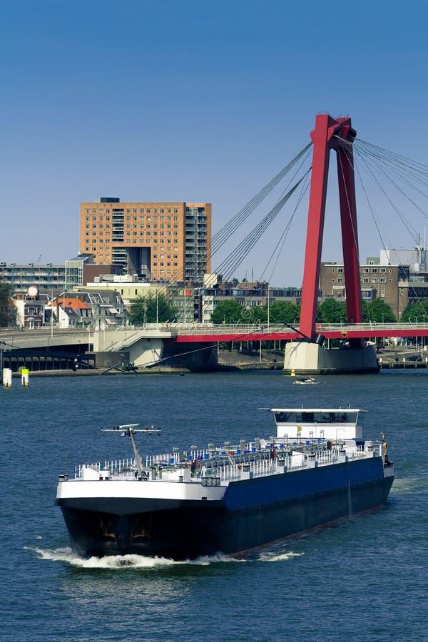 Rotterdam. Mosa y Willemsbrug imágenes de archivo libres de regalías