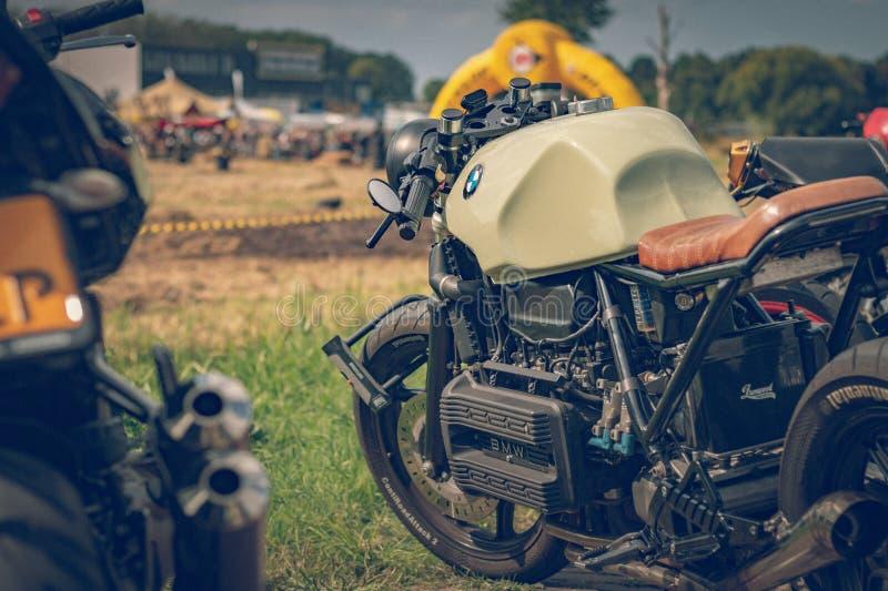 ROTTERDAM, NEDERLAND - SEPTEMBER 2 2018: De motorfietsen zijn shini stock foto
