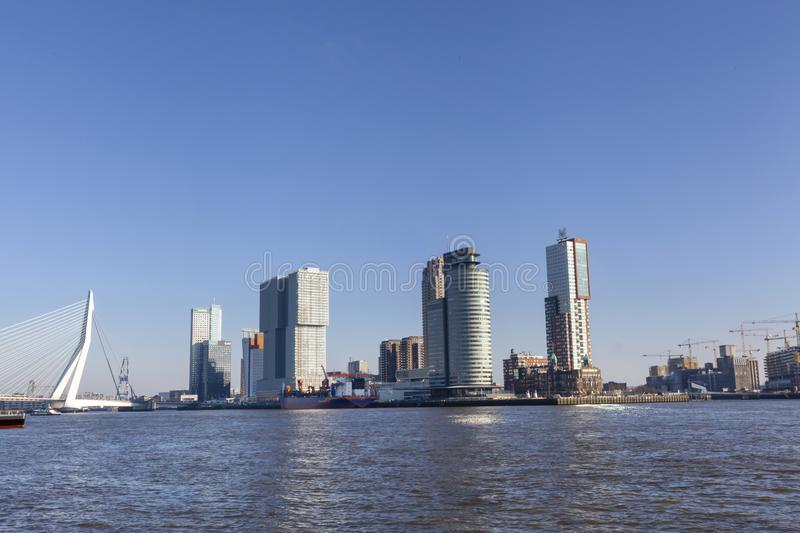 Rotterdam, Netherlands. City skyline on a beautiful sunny day. Image stock images