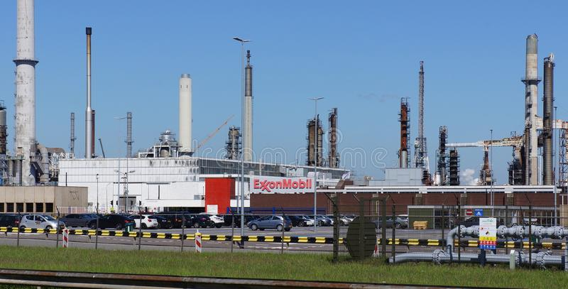 ExxonMobil industrial facility in Rotterdam, the Netherlands royalty free stock images
