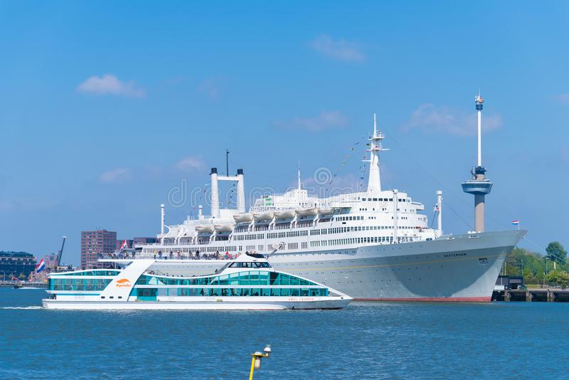 Former cruise ship SS Rotterdam stock photo