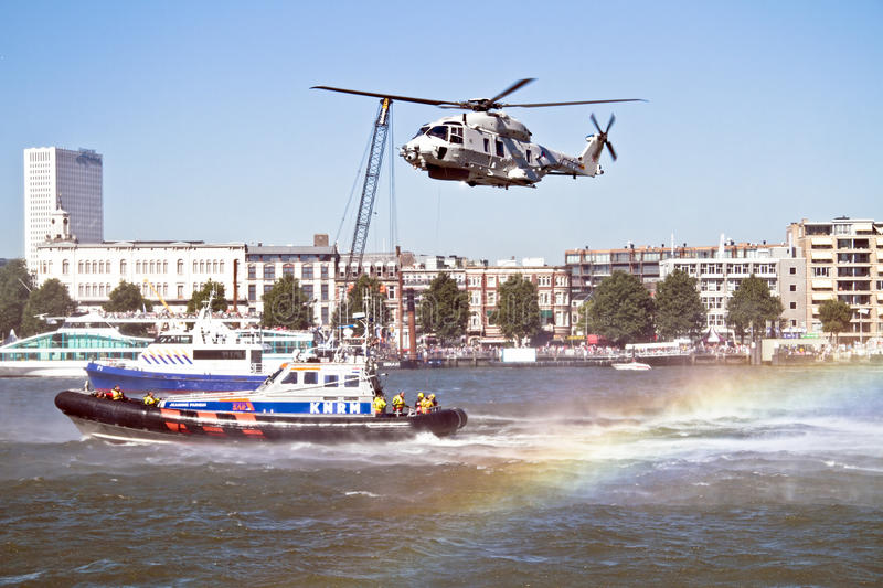 Download ROTTERDAM, NETHERLANDS - SEPTEMBER 09: Demonstration Of A Rescue Editorial Photo - Image of transportation, transport: 36951216