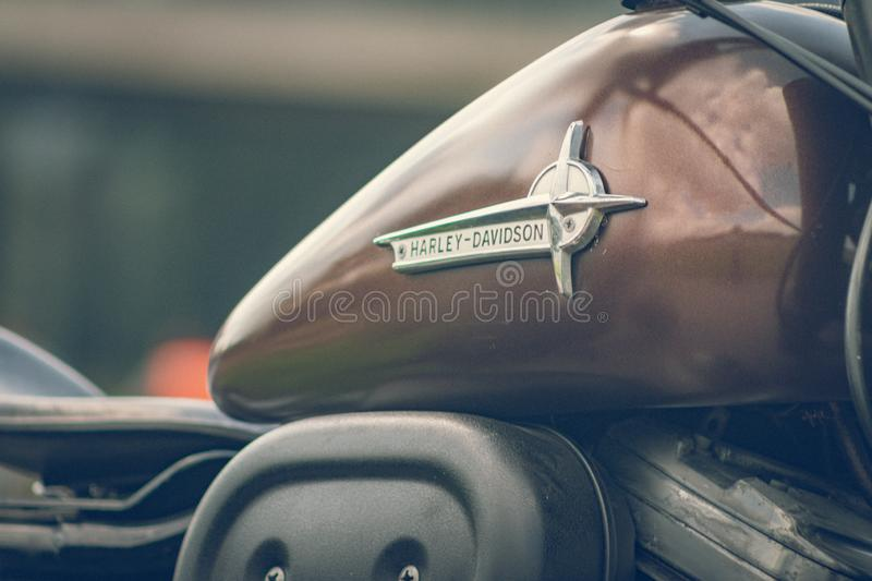 ROTTERDAM, NETHERLANDS - SEPTEMBER 2 2018: Motorcycles are shining at Dutch motor event 'Rotterdam Dirt Ride' royalty free stock photography