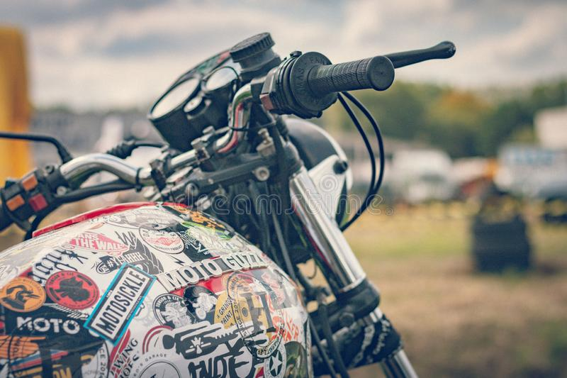 ROTTERDAM, NETHERLANDS - SEPTEMBER 2 2018: Motorcycles are shining at Dutch motor event 'Rotterdam Dirt Ride' royalty free stock photos