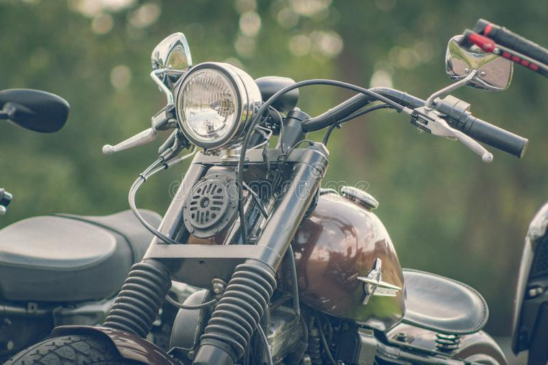 ROTTERDAM, NETHERLANDS - SEPTEMBER 2 2018: Motorcycles are shining at Dutch motor event 'Rotterdam Dirt Ride' royalty free stock image
