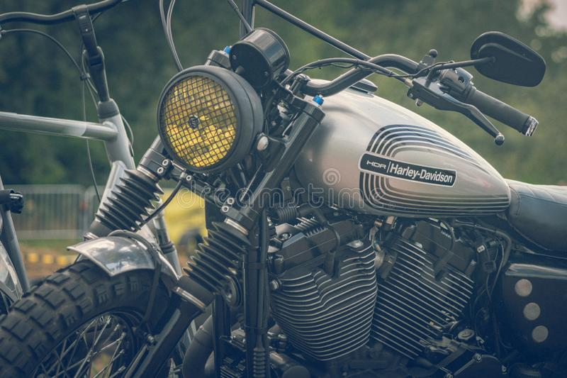 ROTTERDAM, NETHERLANDS - SEPTEMBER 2 2018: Motorcycles are shining at Dutch motor event 'Rotterdam Dirt Ride' royalty free stock images