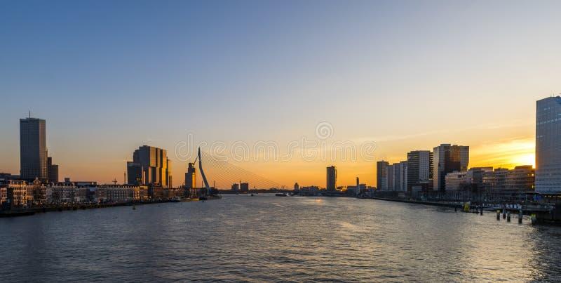 Rotterdam Nieuwe Mosa imágenes de archivo libres de regalías