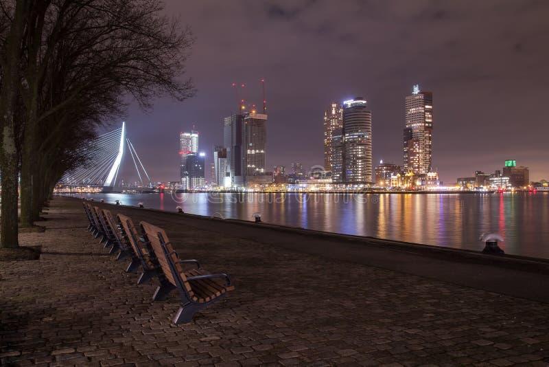 Rotterdam-nightshot stockfotografie