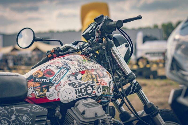 ROTTERDAM, PAÍSES BAIXOS - 2 DE SETEMBRO DE 2018: As motocicletas são shini imagens de stock