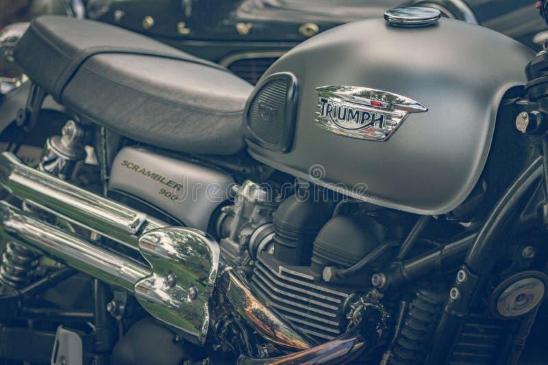 ROTTERDAM, PAÍSES BAJOS - 2 DE SEPTIEMBRE DE 2018: Las motocicletas son shini fotos de archivo libres de regalías