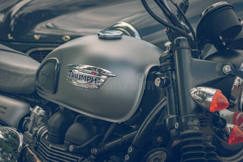 ROTTERDAM, PAÍSES BAJOS - 2 DE SEPTIEMBRE DE 2018: Las motocicletas son shini foto de archivo