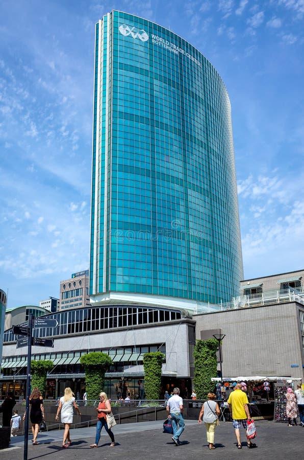 Rotterdam, Paesi Bassi - 22 giugno 2017: Bu del World Trade Center immagini stock libere da diritti