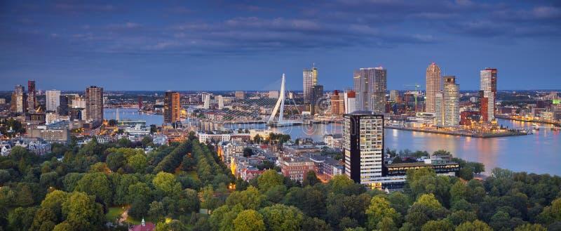 Rotterdam-Panorama lizenzfreie stockfotos