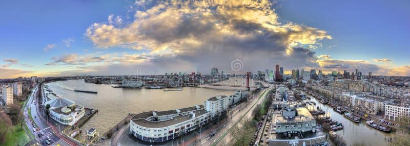 Rotterdam panorama stock photo