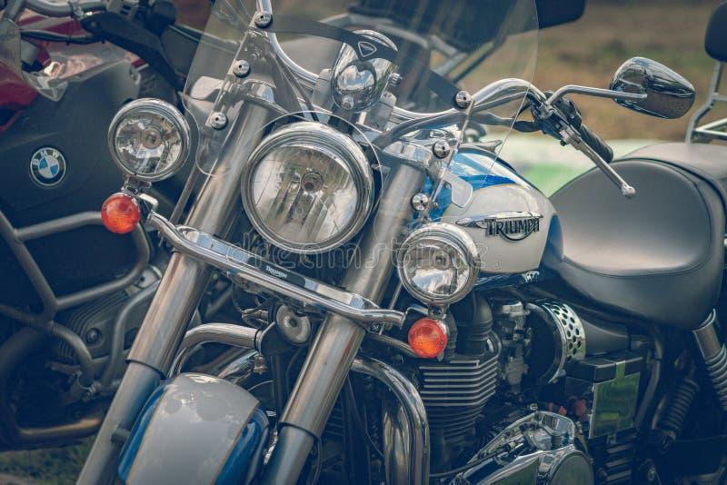 ROTTERDAM, PAYS-BAS - 2 SEPTEMBRE 2018 : Les motos sont shini photo libre de droits