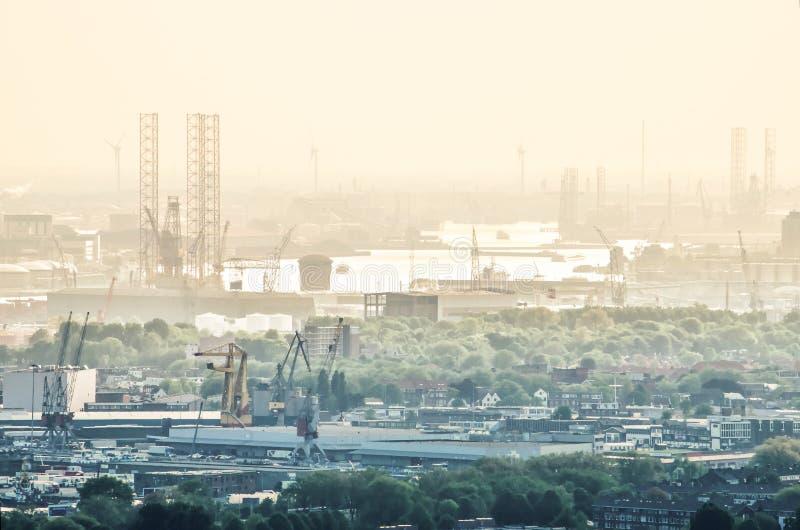 Rotterdam schronienie i miasto zdjęcia royalty free