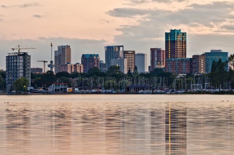 Rotterdam Skyline Editorial Photo