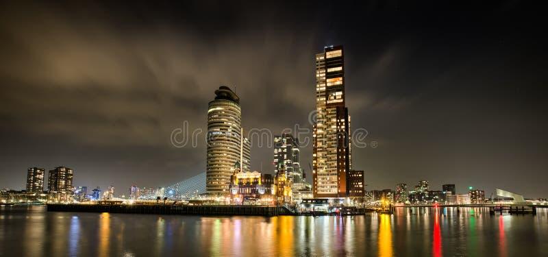 Rotterdam-Skyline an Nacht-hdr 2 stockfoto
