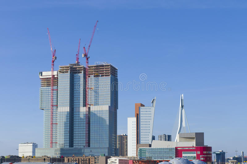Download Rotterdam skyline stock image. Image of district, nautical - 31783217