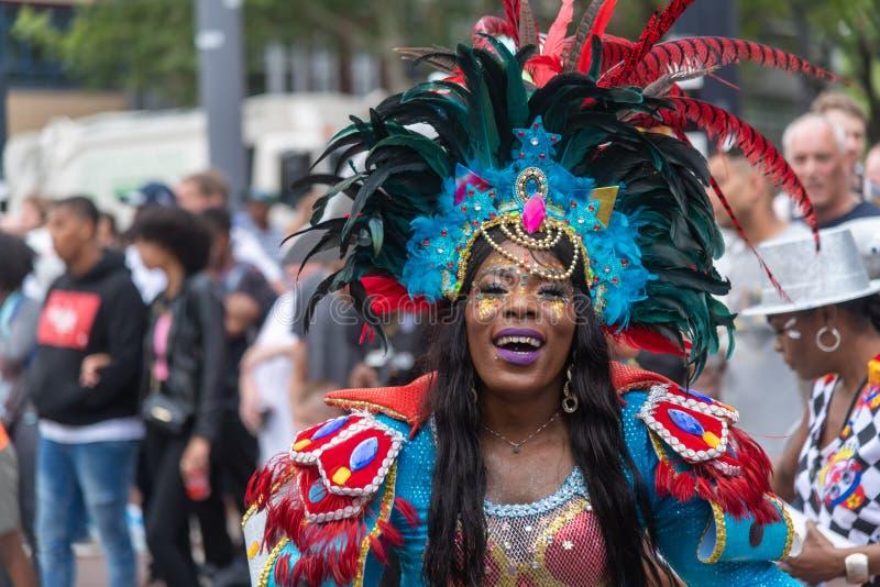 Rotterdam sommar carnaval 2019 ståtar arkivbilder
