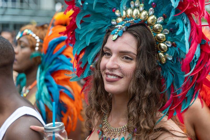 Rotterdam sommar carnaval 2019 ståtar royaltyfri foto