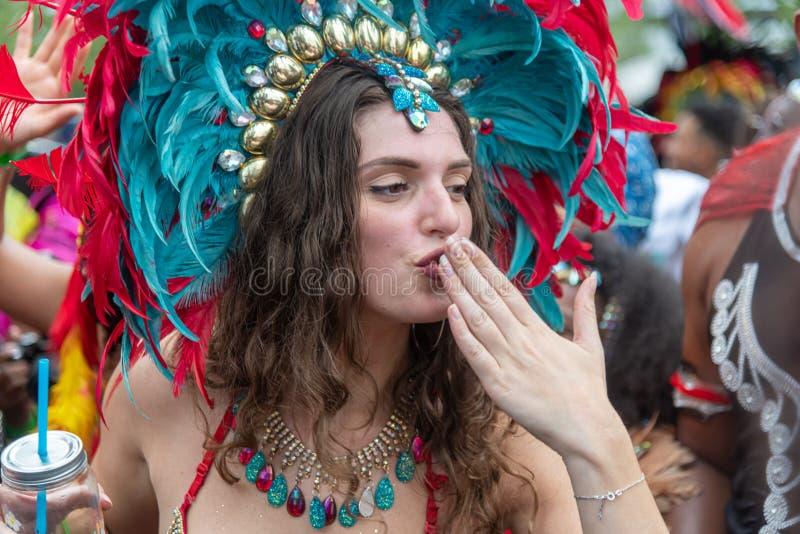 Rotterdam sommar carnaval 2019 ståtar royaltyfri fotografi