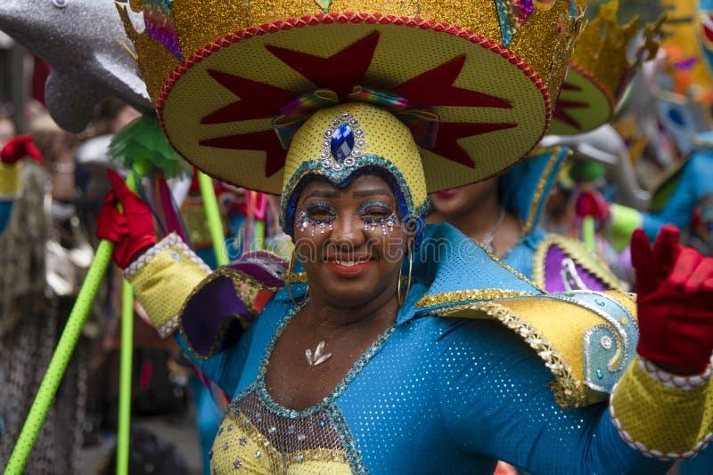 Rotterdam sommar carnaval 2019 ståtar arkivbild