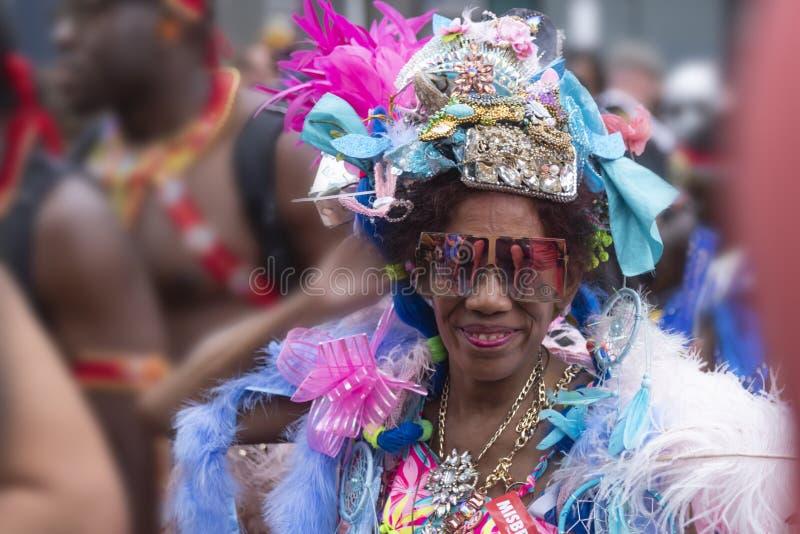 Rotterdam sommar carnaval 2019 ståtar arkivfoto