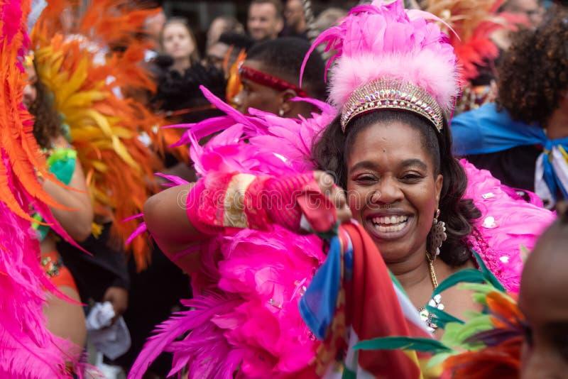 Rotterdam sommar carnaval 2019 ståtar arkivfoton