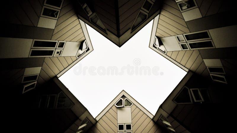 Rotterdam-Würfel-Häuser stockfotos