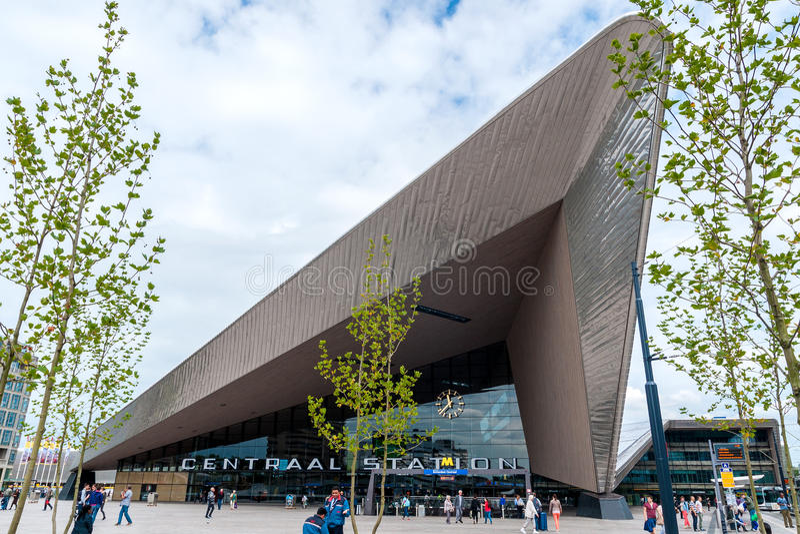 Rotterdams nieuwe Centrale Post royalty-vrije stock foto's