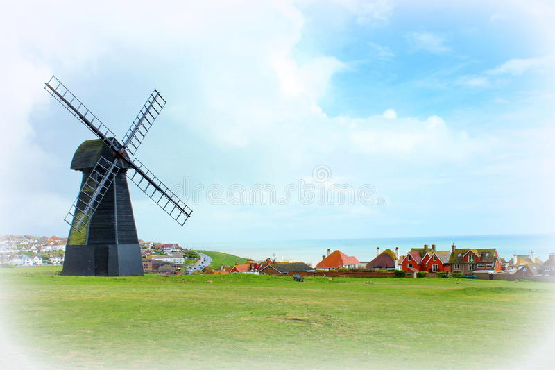 Rottingdeanwindmolen Sussex ENGELAND het UK royalty-vrije stock foto