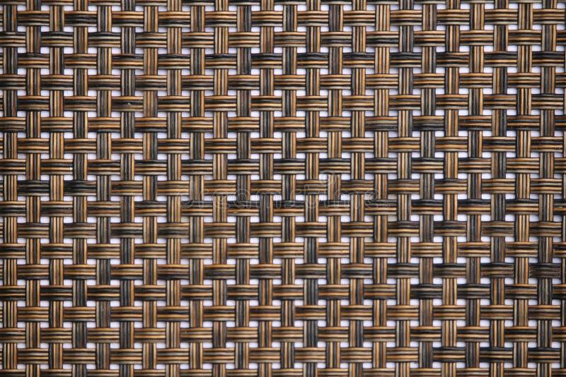 Rottingtextur, detalj handcraft bambu som väver texturbakgrund vektor illustrationer