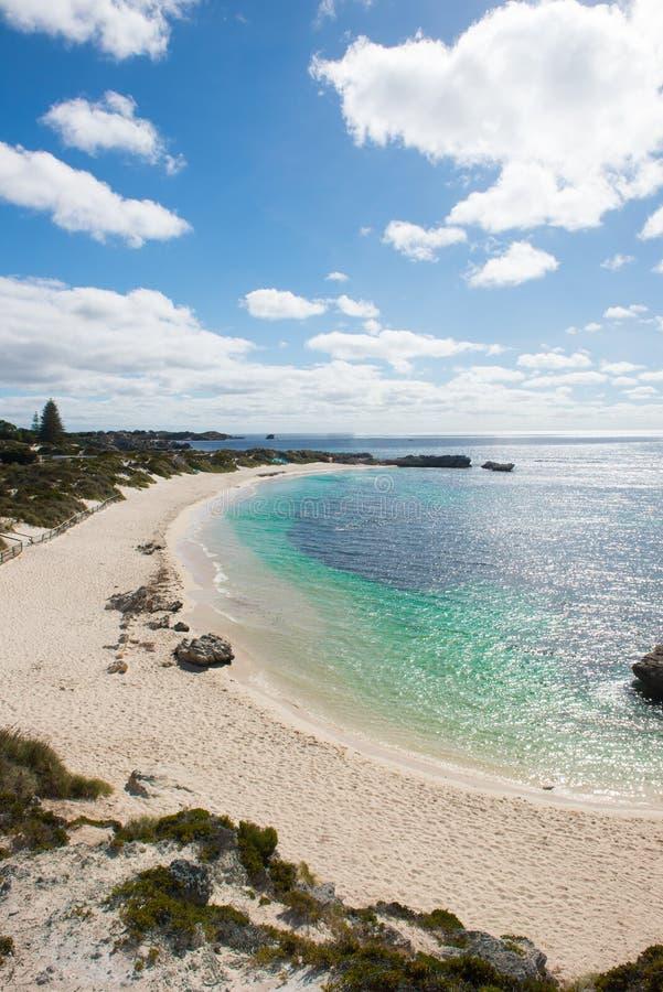 Rottnest海岛西澳州珀斯海滩 免版税库存图片