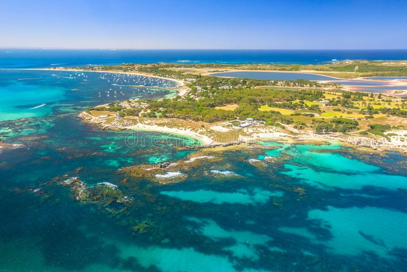 Rottnest海岛风景飞行 免版税库存照片