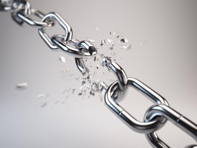 Rottura a catena illustrazione di stock