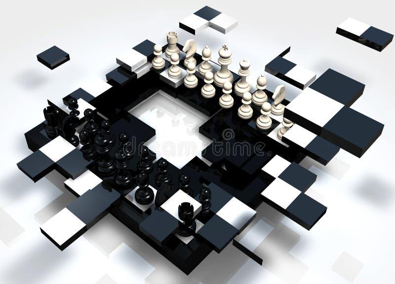 Rottura degli scacchi royalty illustrazione gratis