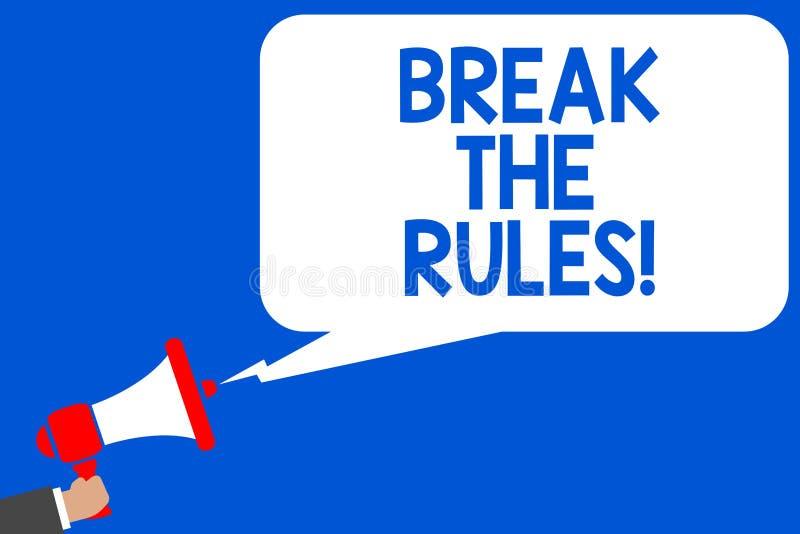 Rottura del testo di scrittura di parola le regole Il concetto di affari per i cambiamenti Make fa tutto riforma differente di ri royalty illustrazione gratis