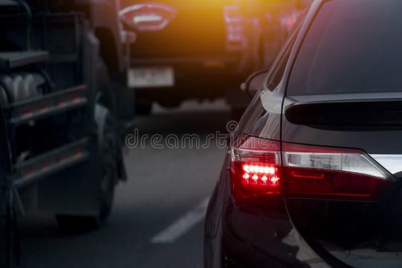 Rottura dell'automobile sulla strada immagine stock libera da diritti