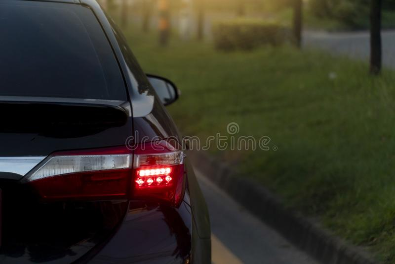Rottura dell'automobile sulla strada immagini stock libere da diritti