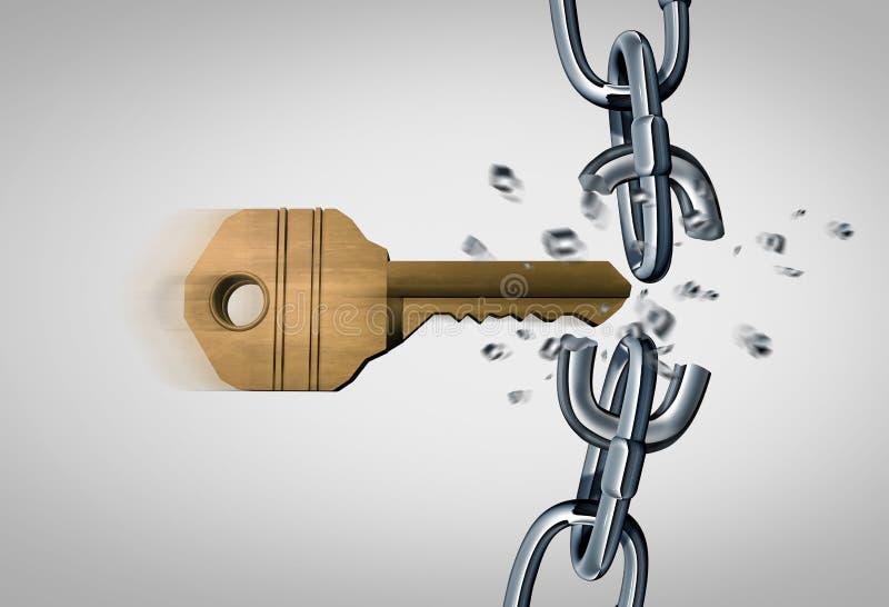 Rottura della catena royalty illustrazione gratis
