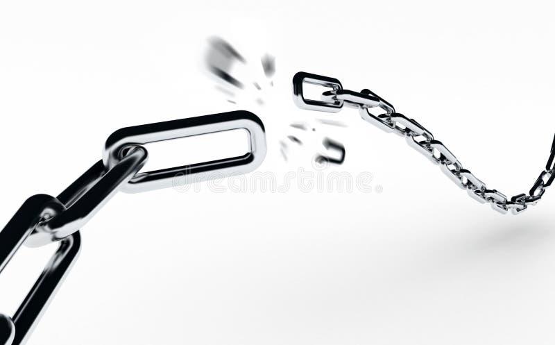 Rottura della catena illustrazione di stock