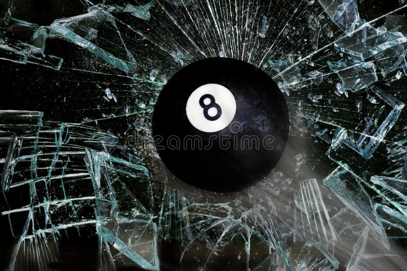 Rottura della palla otto illustrazione di stock