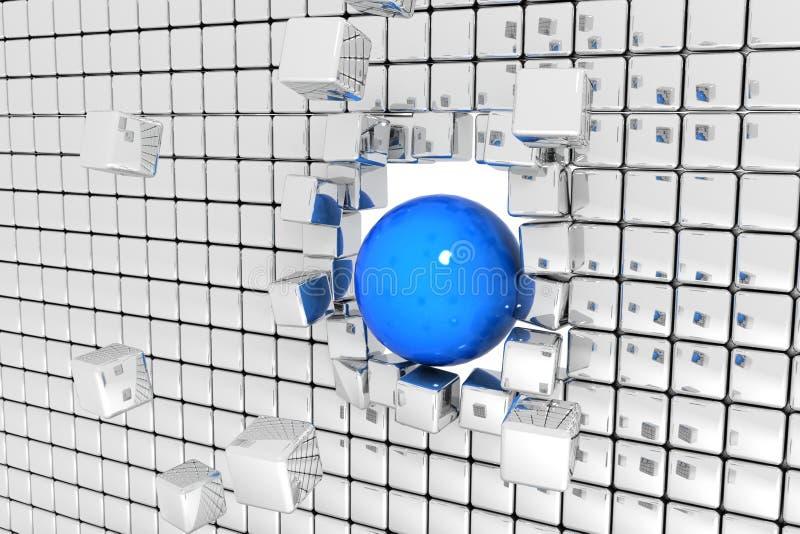 Rottura della parete immagini stock libere da diritti