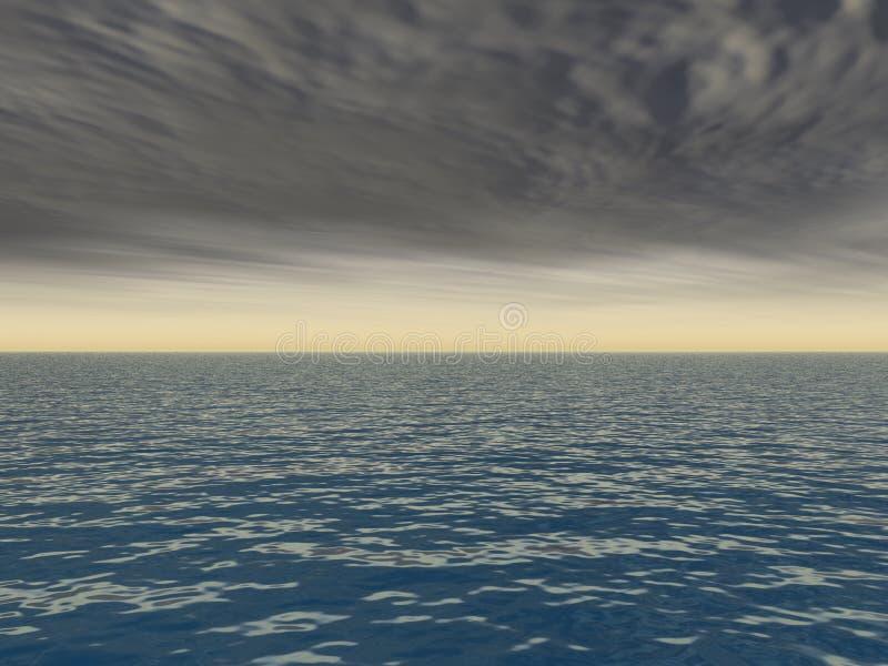 Rottura della tempesta sopra il mare royalty illustrazione gratis