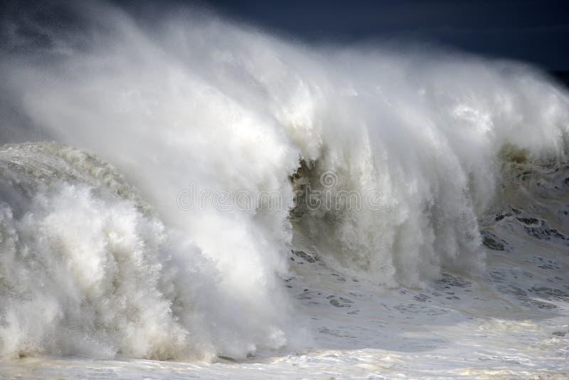 Rottura gigantesca dell'onda fotografia stock libera da diritti