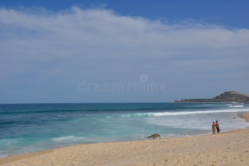 Rottura Los Cabos Messico della spuma di Azul della Costa immagine stock libera da diritti